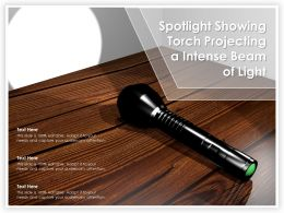 Spotlight Showing Torch Projecting A Intense Beam Of Light