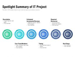 Spotlight Summary Of IT Project