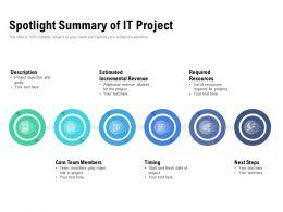 Spotlight Summary Of IT Project