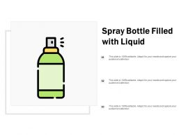 Spray Bottle Filled With Liquid