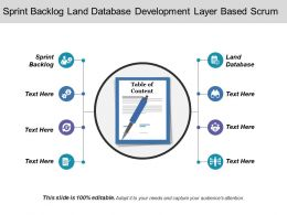 Sprint Backlog Land Database Development Layer Based Scrum