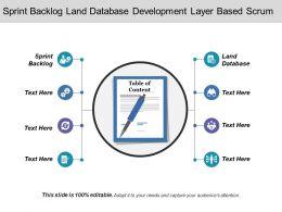 Sprint Backlog Land Database Development Layer Based Scrum