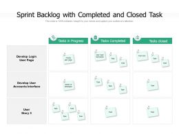 Sprint Backlog With Completed And Closed Task
