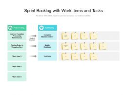 Sprint Backlog With Work Items And Tasks