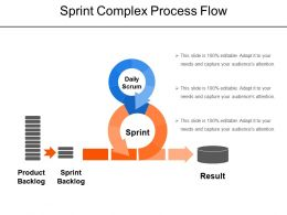 Sprint Complex Process Flow Sample Of Ppt Presentation