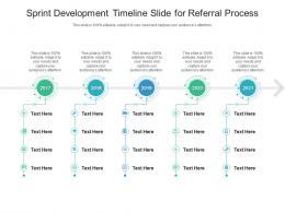 Sprint Development Timeline Slide For Referral Process Infographic Template
