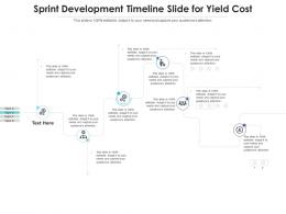 Sprint Development Timeline Slide For Yield Cost Infographic Template