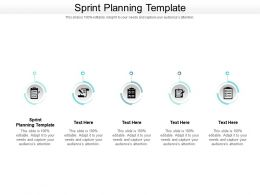 Sprint Planning Template Ppt Powerpoint Presentation Slides Maker Cpb