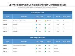 Sprint Report With Complete And Not Complete Issues