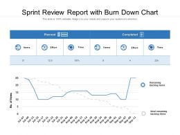 Sprint Review Report With Burn Down Chart