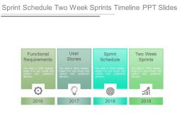 Sprint Schedule Two Week Sprints Timeline Ppt Slides