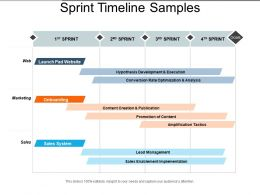 Sprint Timeline Samples Powerpoint Slide Clipart