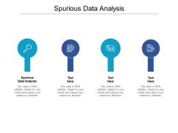 Spurious Data Analysis Ppt Powerpoint Presentation Professional Icons Cpb