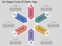 sq Six Staged Cycle Of Option Tags Flat Powerpoint Design