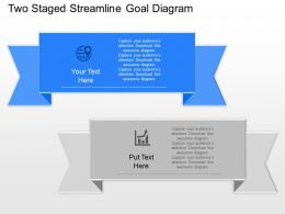 Sq Two Staged Streamline Goal Diagram Powerpoint Template