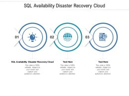 SQL Availability Disaster Recovery Cloud Ppt Powerpoint Presentation Layouts Cpb