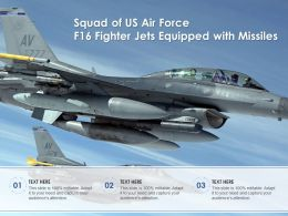 Squad Of US Air Force F16 Fighter Jets Equipped With Missiles