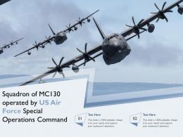 Squadron Of MC130 Operated By US Air Force