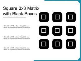 Square 3x3 Matrix With Black Boxes