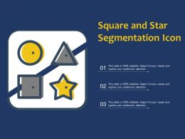Square And Star Segmentation Icon