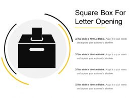 Square Box For Letter Opening