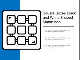 Square Boxes Black And White Shaped Matrix Icon