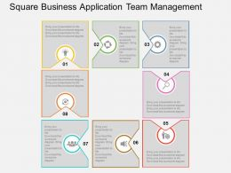 Square Business Application Team Management Flat Powerpoint Design