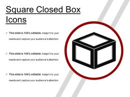 Square Closed Box Icons