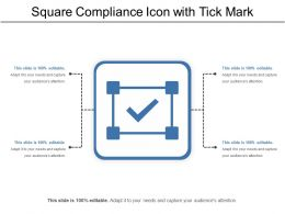 Square Compliance Icon With Tick Mark
