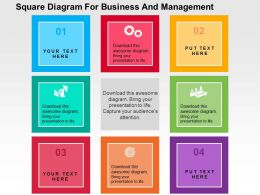Square Diagram For Business And Management Flat Powerpoint Design