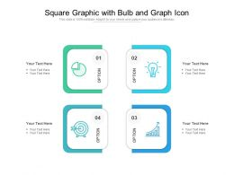 Square Graphic With Bulb And Graph Icon