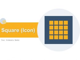 Square Icon Business Process Connected Through Overlapping Circles