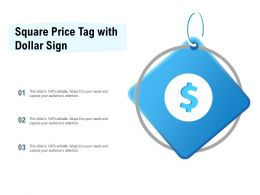 Square Price Tag With Dollar Sign