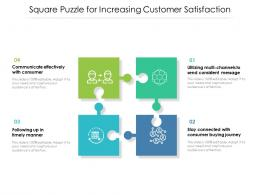 Square Puzzle For Increasing Customer Satisfaction