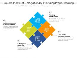 Square Puzzle Of Delegation By Providing Proper Training