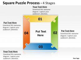 Square Puzzle Process 4 Stages 6