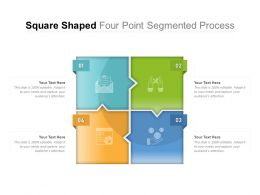Square Shaped Four Point Segmented Process