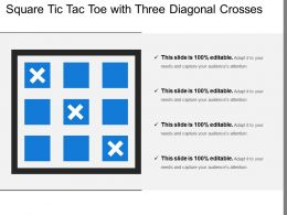 Square Tic Tac Toe With Three Diagonal Crosses