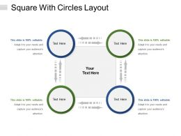 Square With Circles Layout
