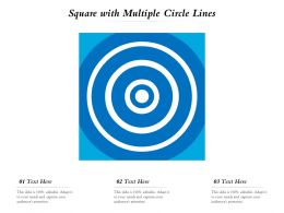 Square With Multiple Circle Lines