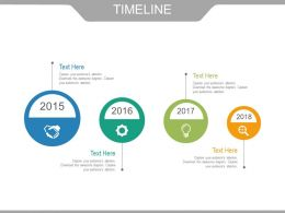 Squential Timeline With Business Process Powerpoint Slides