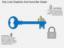 Ss Key Lock Graphics And Icons Bar Graph Flat Powerpoint Design