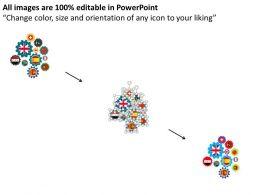 16429791 Style Variety 1 Gears 6 Piece Powerpoint Presentation Diagram Infographic Slide