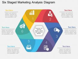 ss Six Staged Marketing Analysis Diagram Flat Powerpoint Design