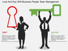 st_lock_and_key_with_business_people_team_management_flat_powerpoint_design_Slide01