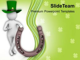 St Patricks Day 3d Man With Luck Of Irish Celebration Templates Ppt Backgrounds For Slides