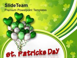 St Patricks Day And Balloons Celebration Templates Ppt Backgrounds For Slides