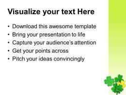 St Patricks Day Clover Lucky Symbol Irish Powerpoint Templates Ppt Backgrounds For Slides