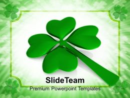 St Patricks Day Decorations Saint Lucky Clover Leaf Celebration Templates Ppt Backgrounds For Slides