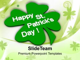 St Patricks Day Festival Abstract Background Of Powerpoint Templates Ppt Backgrounds For Slides